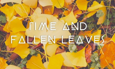 time and fallen leaves